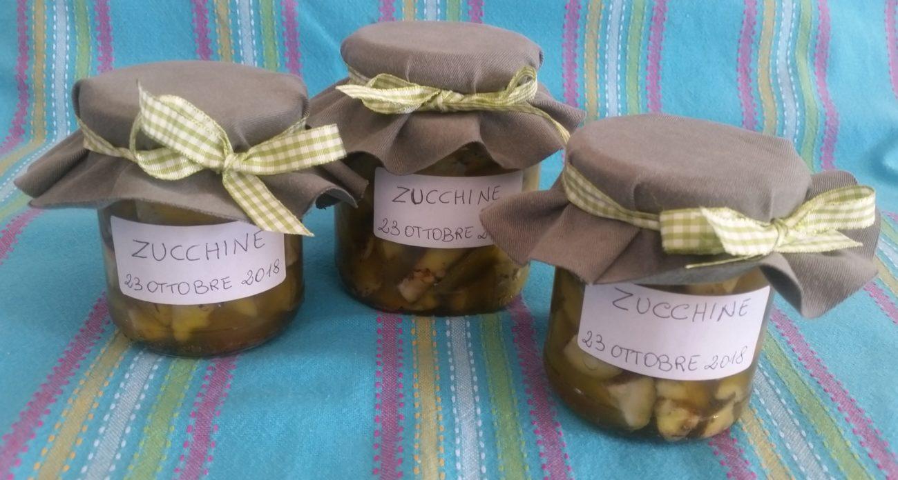 Zucchine in conserva sott'olio