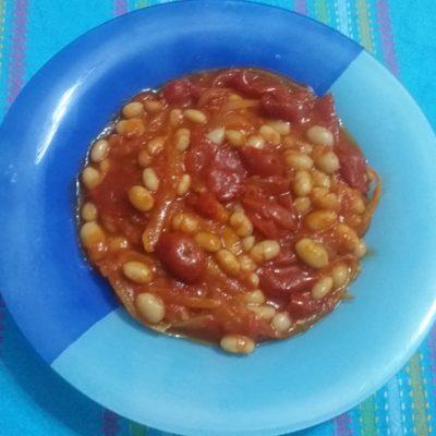 Fagioli pomodorini e cipolle