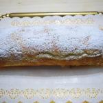 Rotolo di pan di Spagna con mascarpone e fragole