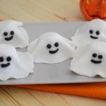 Fantasmini Halloween con biscotti di pasta frolla