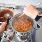 Pasta con sugo di carne macinata
