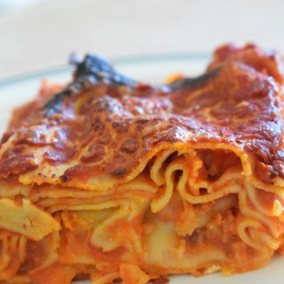 Lasagne al forno con sugo semplice
