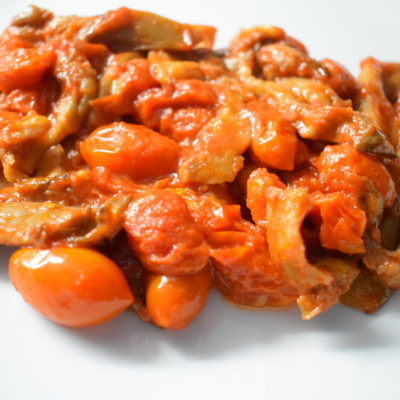Funghi pleurotus con pomodorini