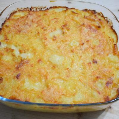 Pasta e patate al forno con provola
