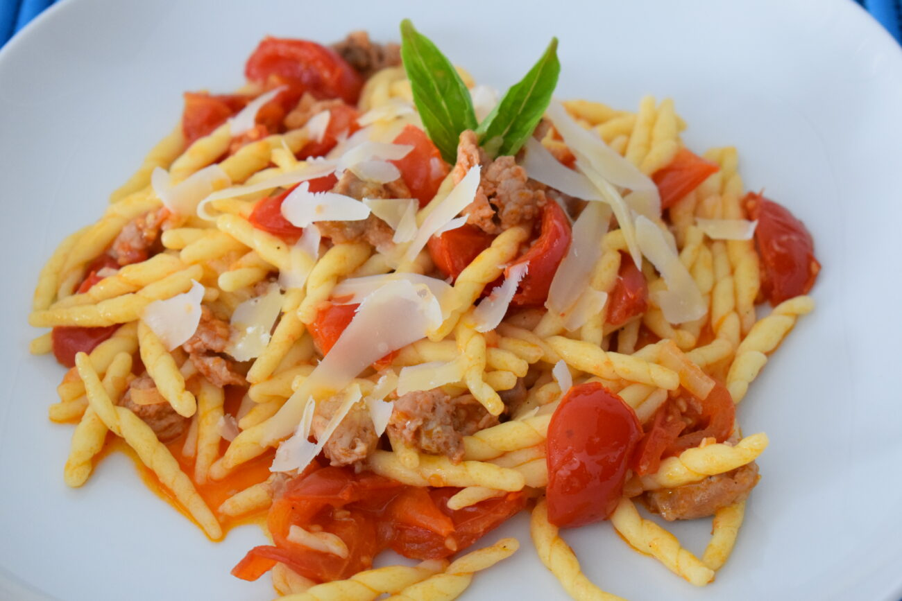 Pasta pomodorini e salsiccia