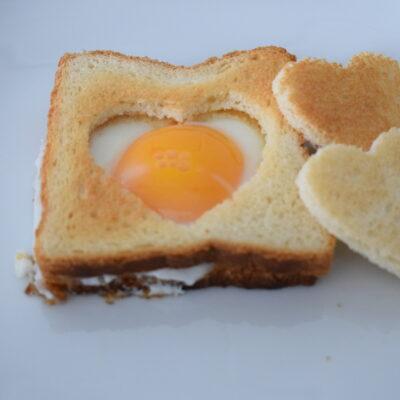 Uova fritte nel pancarré